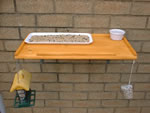 Bird table with treats