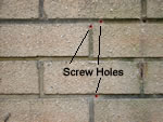 Drill screw holes