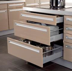 kitchen drawers.  Kitchen Drawer Runners