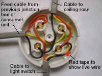 one way lighting junction box rh diyhowto co uk trailer wiring connection box Electric Motor Wiring Connections
