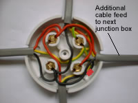 junction box schematic wiring one way lighting junction box with four wires junction box diagram #7