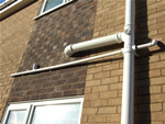 Bath, sink and shower pipes going into soil pipe